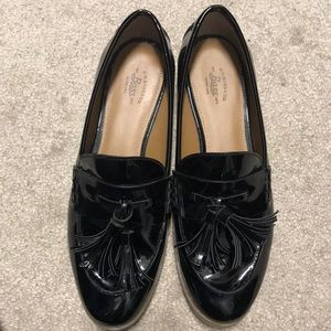 GH bass & CO patent penny loafers